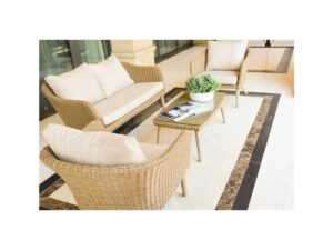 H&N 4 Piece Conversation Set with Cushion SF22