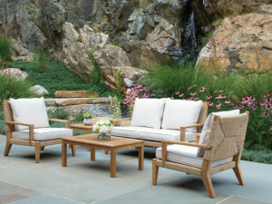 H&N 5 Piece Conversation Set with Cushion SF31